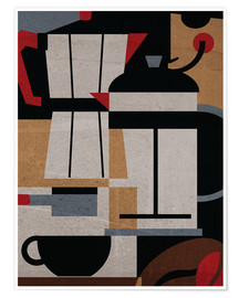 Premium poster  Coffee Methods - ilaamen Pelshaw
