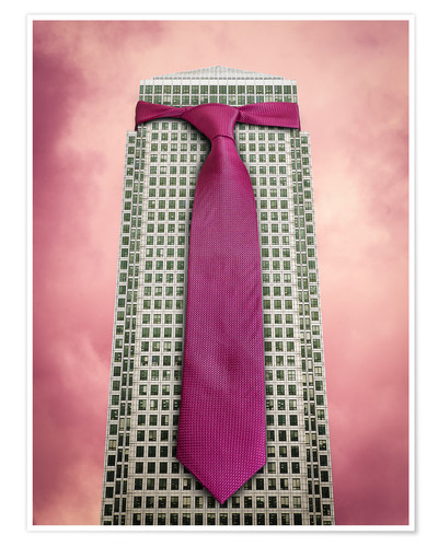 Premium poster Tie on a London Skyscraper