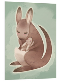 Foam board print  Mamma and baby kangaroo - Ashley Verkamp