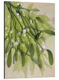 Aluminium print  Christmas Mistletoe - Ashley Verkamp