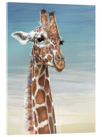 Acrylic print  Giraffe Against A Blue Sky - Ashley Verkamp