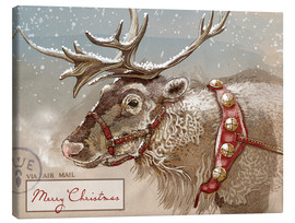 Canvas print  Air Mail Christmas Reindeer - Ashley Verkamp