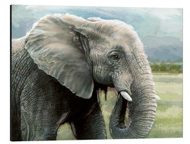Aluminium print  African Elephant In The Savanna Wilds - Ashley Verkamp