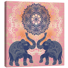 Canvas  Elephant love