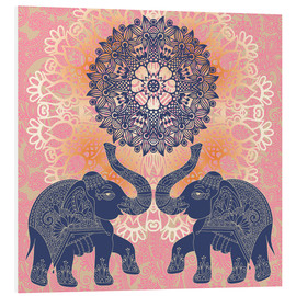 Foam board print  Elephant love