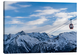 Canvas print  Ski Resorts in the winter - Mike Clegg Photography