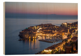 Wood print  Dubrovnik at Sunset - Mike Clegg Photography