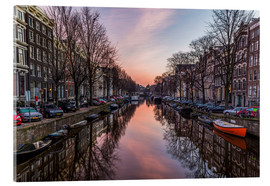 Acrylic print  Amsterdam Canals at Sunrise - Mike Clegg Photography