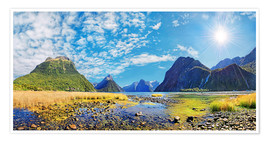 Premium poster Milford Sound New Zealand