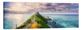 Canvas print  Nugget Point Panorama New Zealand - Michael Rucker