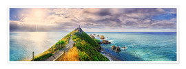 Premium poster Nugget Point Panorama New Zealand
