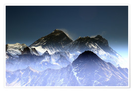 Premium poster Everest summit