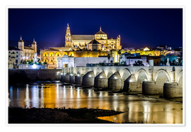 Premium poster  Cordoba at night - Jörg Gamroth