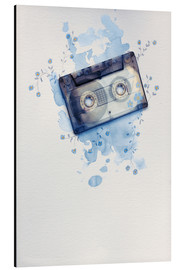 Aluminium print  Music tape with flowers and watercolour wash - Sybille Sterk
