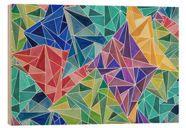 Wood print  Geometric Rainbow - Angelika Parker