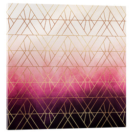 Acrylic print  Pink Ombre Triangles - Elisabeth Fredriksson