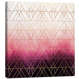 Canvas  Pink Ombre Triangles - Elisabeth Fredriksson