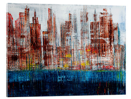 Acrylic print  New York Skyline, abstract - Gerhard Kraus