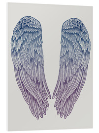 Foam board print  Angel Wings - Rachel Caldwell