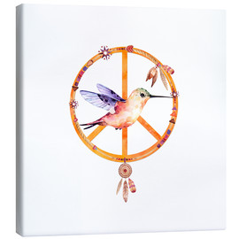 Canvas print  Hummingbird Peace - Andrea Haase