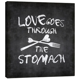 Canvas print  Love goes through the stomach - Andrea Haase