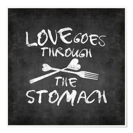 Premium poster  Love goes through the stomach - Andrea Haase
