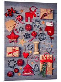 Acrylic print  Christmas deco auf dem wooden background - Elena Schweitzer