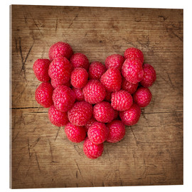 Acrylic print  Heart from berries - Elena Schweitzer