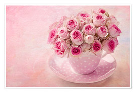 Premium poster Roses in a cup