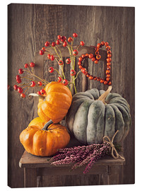 Canvas print  Still life with the pumpkins - Elena Schweitzer