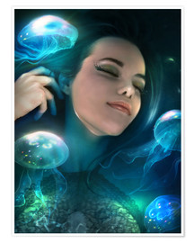 Premium poster Dreaming of jellyfish