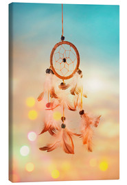 Canvas print  Dream catcher and abstract bokeh background - Elena Schweitzer