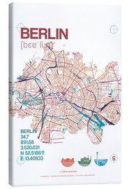 Canvas  Berlin city motif map - campus graphics