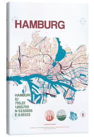 Canvas  Hamburg city motif map - campus graphics