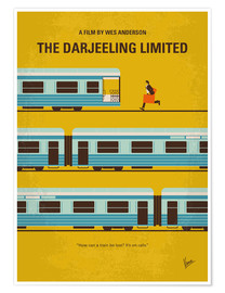 Poster  No800 My The Darjeeling Limited minimal movie poster - chungkong