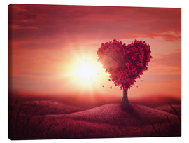 Canvas print  Tree with heart shape - Elena Schweitzer