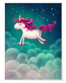 Premium poster Unicorn and stars