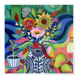 Poster  August blooms - Janet Broxon