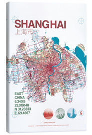 Canvas print  Shanghai city map - campus graphics