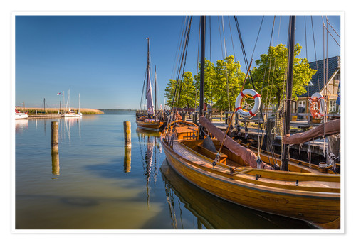 Premium poster Historic sailing boat at the Baltic Sea (Germany)