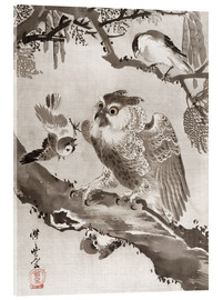 Acrylic print  Owl Mocked by Small Birds - Kawanabe Kyosai