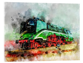 Acrylic print  Steam locomotive 18 201, the fastest steam locomotive in the world - Peter Roder