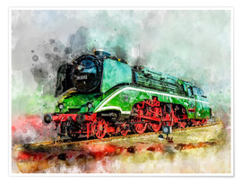 Premium poster  Steam locomotive 18 201, the fastest steam locomotive in the world - Peter Roder