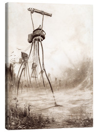 Canvas print  Martian tripods advancing in a line - Henrique Alvim Correa