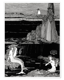 Premium poster  Mermaids - Harry Clarke