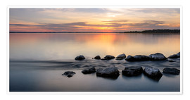 Premium poster Sunset at Chiemsee - landscape