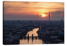 Canvas print  Berlin Skyline - Filtergrafia