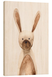 Wood print  Rabbit - RNDMS