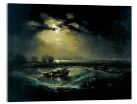 Acrylic print  Fisherman on lake - Joseph Mallord William Turner