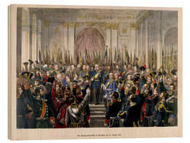 Wood print  The Proclamation of Wilhelm as Kaiser of the new German Reich - German School